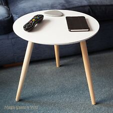 Scandinavian Small Side Table Round Wooden Coffee Tea End Living Room Furniture