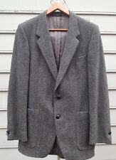 Yves Saint Laurent Made In France Pure New Wool Herringbone Jacket Sz S??