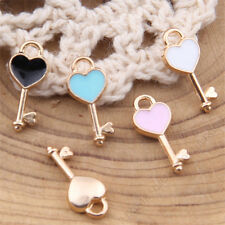 Pink/ Love heart Key Charm Pendant Jewelry Accessories Small Pendant V1015