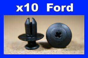 For Ford 10 wheel arch lining mud splash guard fastener push screw clips