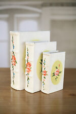 Set of 3 Secret Compartment Faux Books French Provincial Homewares Gift