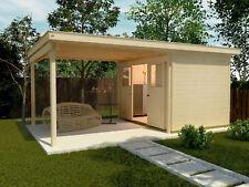 Weka Gartenhaus Loungehaus 225 A Gr.1 21 mm Blockbohlenstärke 205+300x299 cm