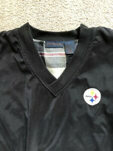 Pittsburgh Steelers Vintage Antigua Jacket V-Neck Pullover Mens Small Adult 90s