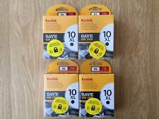 Kodak 10XL Black Ink Cartridges x 4 - Genuine, Original, Sealed