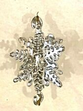 "50+ SILVER SNOWFLAKES 1"" CHRISTMAS DECORATIONS Link Together for Garland"