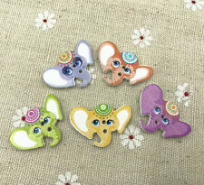 25pcs Mixed Elephant Wooden Buttons DIY Sewing crafts Scrapbooking 28mm