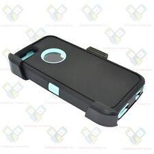 Black Teal For iPhone 5S / SE Defender Case w/ Belt Clip fits Otterbox