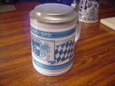TOP und selten Bierkrug Die Bayern SPD seit 1892 mit Zinndeckel