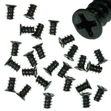 Pack of 25 5x8mm Black PC Fan Screws - Computer Case Chassis 80mm/120mm