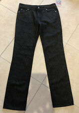 PRADA Contour Fit Size 31 Black Denim Jeans 5-pocket Authentic Made In Italy