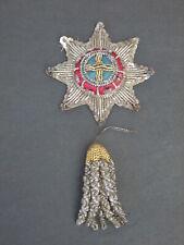 19th Century Bullionwork Star and Tassel - unidentified Fraternal Society