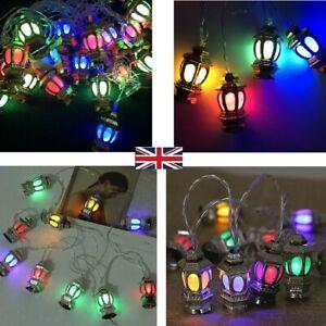 Islamic 10 LED Ramadan and Eid LED String Fairy Light Party Decor Lantern Castle