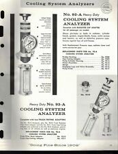 """Vintage 1967 EDELMANN No. 93-A, 92-A """"COOLING SYSTEM ANALYZER Jobbers SELL SHEET"""