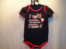 Cleveland Indians MLB Bodysuit Set Girls (2 Piece) Infant 18 Months  NEW