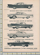 Chrysler Corporation Plymouth Dodge De Soto car auto 1957 magazine print ad
