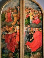 """All Saints Day"" w/Altar Piece- (4 Small Crowd Photos/1 Postcard)... 'Postcard'"