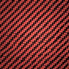 """100% Real Carbon Fiber / red Kevlar Fabric / Cloth 2x2 twill 36""""x50"""" 3k 5.5oz"""