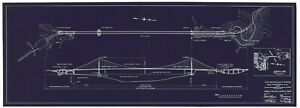 Golden Gate Bridge Blueprint