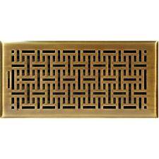 Antique Brass Wicker Floor Vent 150x350mm Neck