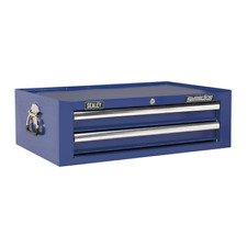 AP26029TC Sealey Add-On Chest 2 Drawer with Ball Bearing Runners - Blue