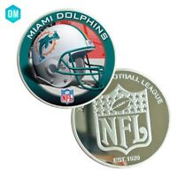 American NFL 39mm Coin Holder for Necklace Coin Collectibles MIAMI DOLPHINS Coin