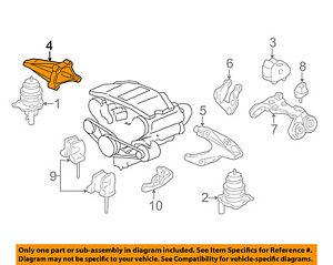 Acura HONDA OEM 96-04 RL Engine-Front mount bracket Right 50824SZ3000
