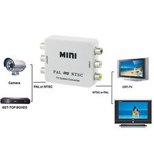 PAL/NTSC/SECAM to PAL/NTSC Mini Bi-directional TV System Converter Switcher NEW