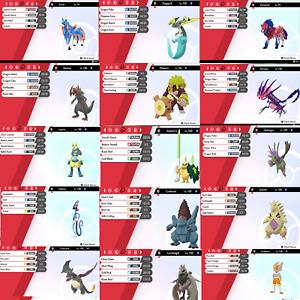 Pokemon Sword & Shield All 400 Shiny Pokemon 6IV Battle Ready!!!