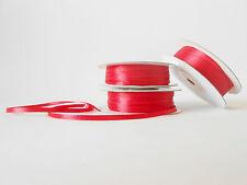 Nastro doppio raso 3 mm rotolo bobina da 50 mt Rosso fai da te -art D0316