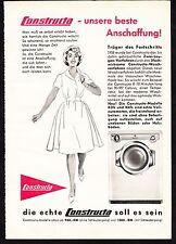 3w1540/ Alte Reklame von 1960 - CONSTRUCTA Waschmaschinen - Lintorf