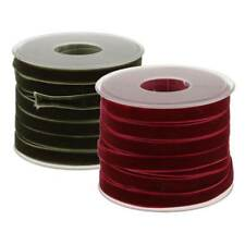 2*20 Yard Wide Velvet Ribbon Roll 10mm for Holiday Gift Package Wrapping