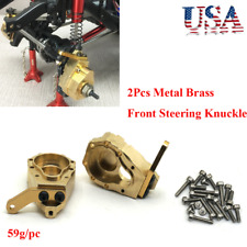 2Pcs Metal Brass Front Steering Knuckle Upgrade For Crawler Traxxas TRX-4 59g/pc