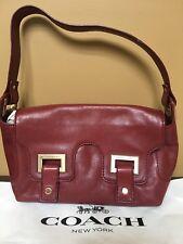 Michael Kors 100%Authentic Burgundy Leather Flap Satchel Shoulder Hand Bag