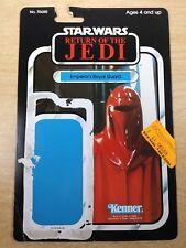 vintage card back Emperor's Royal Guard Star Wars Return of the Jedi Kenner '83