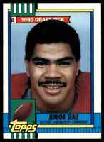 1990 TOPPS JUNIOR SEAU RC SAN DIEGO CHARGERS #381