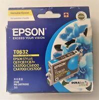 Genuine EPSON T0632 CYAN INK CARTRIDGE