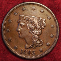 1843 BRAIDED HAIR LARGE 1C PETITE HEAD, SMALL LETT. BN *AU*, 1848 LARGE 1C *XF+*