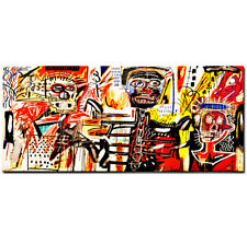 "Jean Michel Basquiat ""Philistines"" Oil Painting Modern on Canvas Wall Picture"