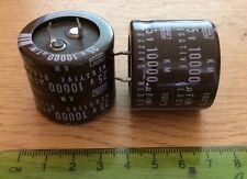 10000 uF  25 volt  105 degrees Snap in Nippon capacitors  pack  of 4   Z200