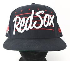 Boston Red Sox New Era Snapback Hat Embroidered Baseball Cap Ball Black White