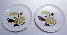 2 assiettes plates Sovirel Pyrex vintage