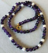 Halsketten und Anhänger aus Edelsteinen mit Amethyst Unbehandelte runde