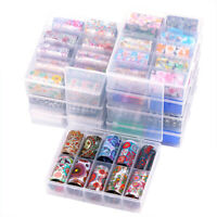 10 Rolls Starry Laser Nail Foil Lace Flower 3D Nail Art Transfer Sticker & Box