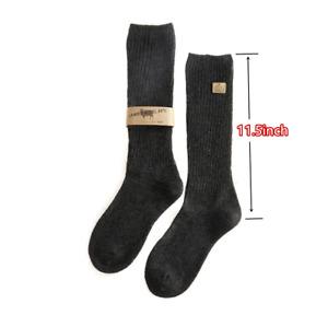 2 Pairs Women 80% Lamb Wool 15% Cashmere Winter Warm Long Knee High Dress Socks