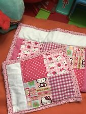 Handmade Dolls Pram / Bed Set In Pink Hello Kitty