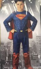 SUPERMAN Kids Fancy Dress World Book Day 7-8 yrs Superhero Party Costume Marvel