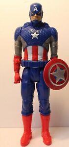 "2014 Marvel Avengers Titan Hero Series 12"" Captain America Action Figure"