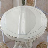 Rund Klar PVC Tabelle Cover Schutz Mat Wasserdicht Tischdecke Ölsicher Gedeckter