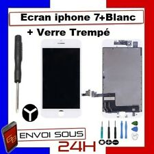 VITRE TACTILE ECRAN LCD RETINA  SUR CHASSIS POUR IPHONE 7 PLUS BLANC + OUTIL