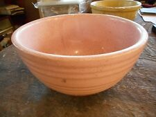** Vintage Pink Yellowware Mccoy Pottery USA Mixing Bowl Bee Hive Speckled **